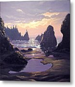 Sunset At Point Of The Arches Metal Print