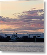Sunset At Port Angeles Metal Print