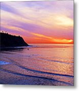 Sunset At Pv Cove Metal Print by Ron Regalado