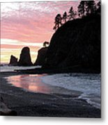 Sunset At Rialto Beach 1 Metal Print