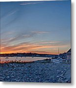 Sunset At Scituate Light Metal Print