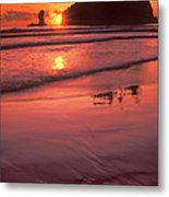 Sunset At Second Beach Olympic National Park Metal Print