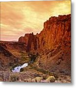 Sunset At Smith Rock Metal Print