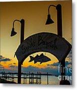 Sunset At Snooks Bayside Metal Print