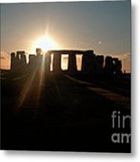 Sunset At Stonehenge 3 Metal Print by Deborah Smolinske