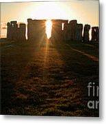 Sunset At Stonehenge 4 Metal Print by Deborah Smolinske