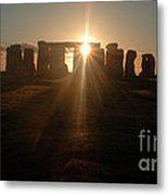 Sunset At Stonehenge 6 Metal Print by Deborah Smolinske