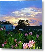 Sunset At Tasty's In Anguilla Metal Print