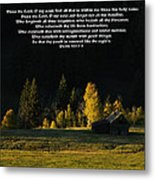 Sunset At The Cabin With Scripture Metal Print