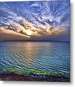 Sunset At The Cliff Beach Metal Print by Ron Shoshani