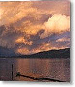 Sunset At The Dock Metal Print