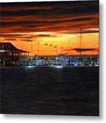Sunset At The Fairhope Pier Metal Print