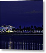 Sunset At The Iconic St. Petersburg Pier Metal Print
