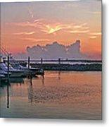 Sunset At The Marina Metal Print