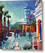 Sunset At The Market Common Metal Print