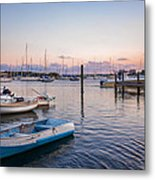 Sunset At The Pier Metal Print