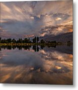 Sunset At The Pond Metal Print