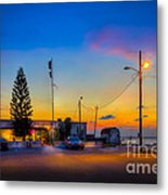 Sunset At The Post Metal Print