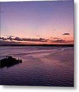 Sunset At The River Metal Print