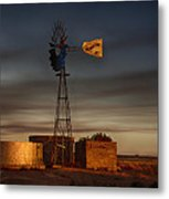 Sunset At The Well Metal Print