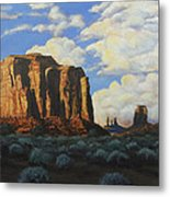 Sunset At The Window Monument Valley Metal Print