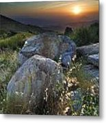 Sunset At The Windy Mountains Metal Print