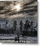 Sunset At The Y Metal Print