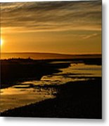 Sunset At Twin Spits Metal Print