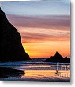 Sunset At Whalehead Beach Metal Print
