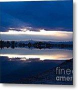 Sunset At Windsor Lake Metal Print by Dana Kern