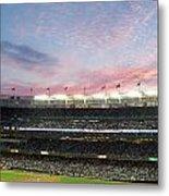 Sunset At Yankee Stadium Metal Print