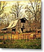 Sunset Barn Metal Print