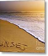 Sunset Beach Metal Print by Carlos Caetano