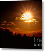Sunset Behind Ft. Lauderdale By Diana Sainz Metal Print
