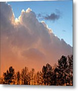 Sunset Between Storm Cells Metal Print