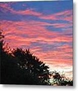 Sunset Bicolor Metal Print