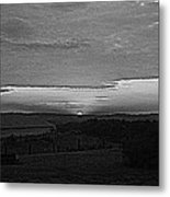 Sunset Black And White Metal Print