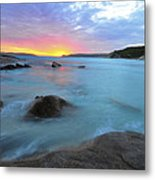 Sunset Blue Metal Print by Sally Nevin