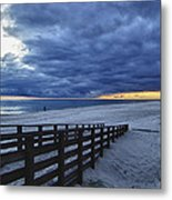Sunset Boardwalk Metal Print by Michael Thomas