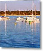 Sunset Boats Metal Print