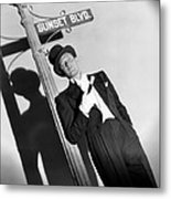 Sunset Boulevard, William Holden 1950 Metal Print