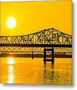 Sunset Bridge Metal Print