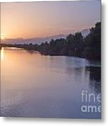 Sunset By Canal Metal Print