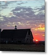 Sunset By The Barn 2 Metal Print