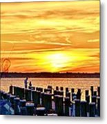 Sunset By The Dock Metal Print