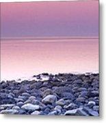 Sunset By The Ocean Metal Print