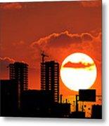 Sunset City Metal Print