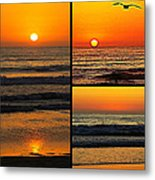 Sunset Collage Metal Print