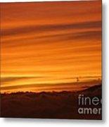 Sunset - Coucher De Soleil - Plaine Des Cafres - Ile De La Reunion - Reunion Island - Indian Ocean Metal Print by Francoise Leandre