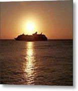 Sunset Cruise Metal Print